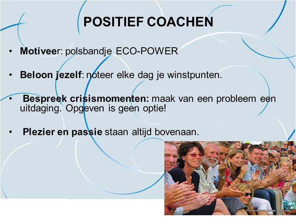 POSITIEF COACHEN Motiveer: polsbandje ECO-POWER