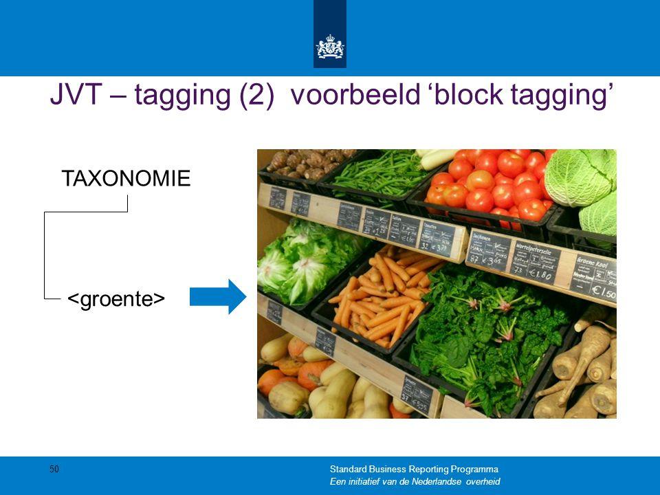 JVT – tagging (2) voorbeeld 'block tagging'