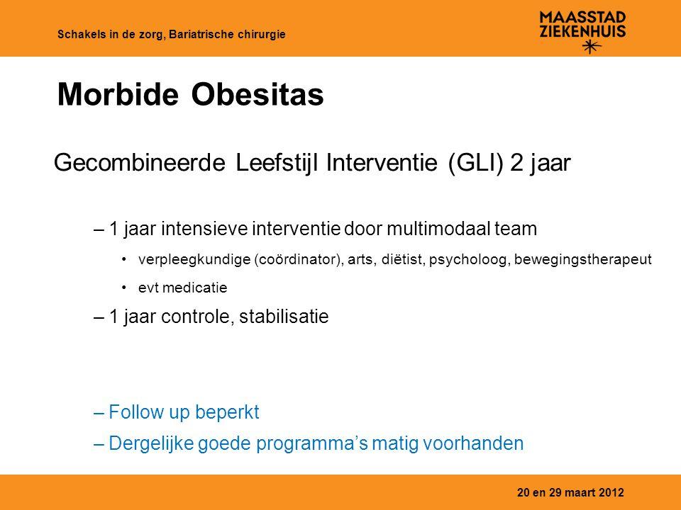 Morbide Obesitas Gecombineerde Leefstijl Interventie (GLI) 2 jaar