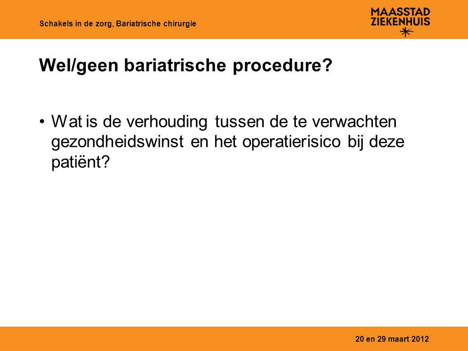 Wel/geen bariatrische procedure