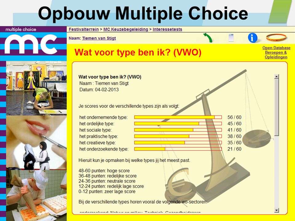 Opbouw Multiple Choice