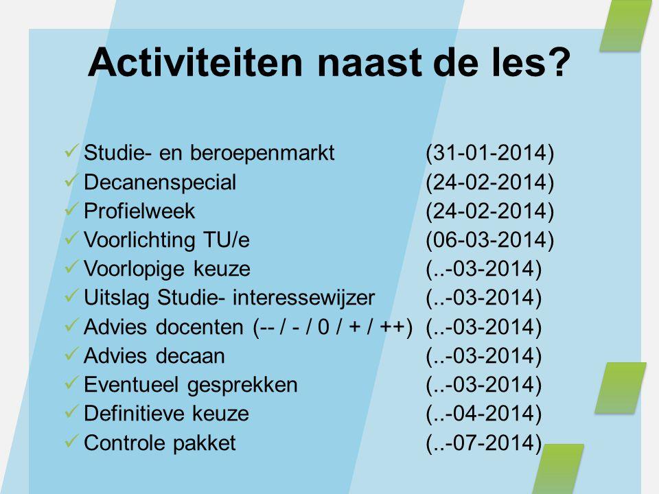 Activiteiten naast de les
