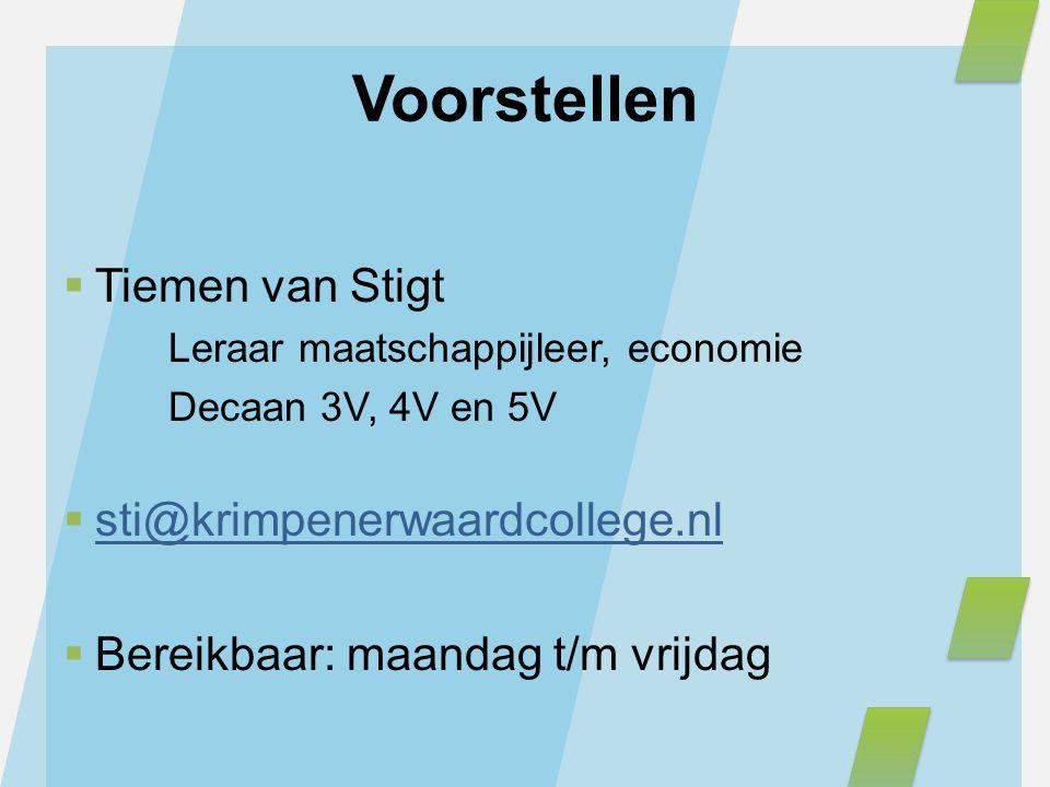 Voorstellen Tiemen van Stigt sti@krimpenerwaardcollege.nl