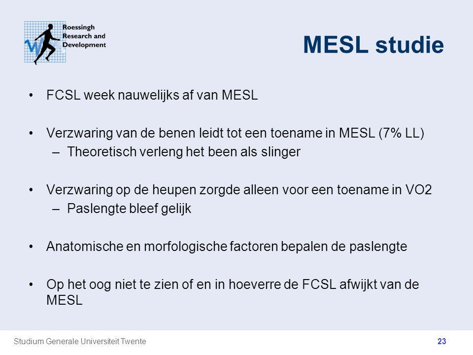 MESL studie FCSL week nauwelijks af van MESL