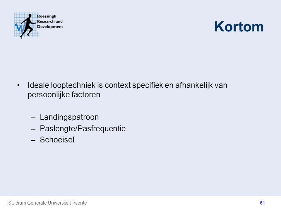 Kortom Ideale looptechniek is context specifiek en afhankelijk van persoonlijke factoren. Landingspatroon.