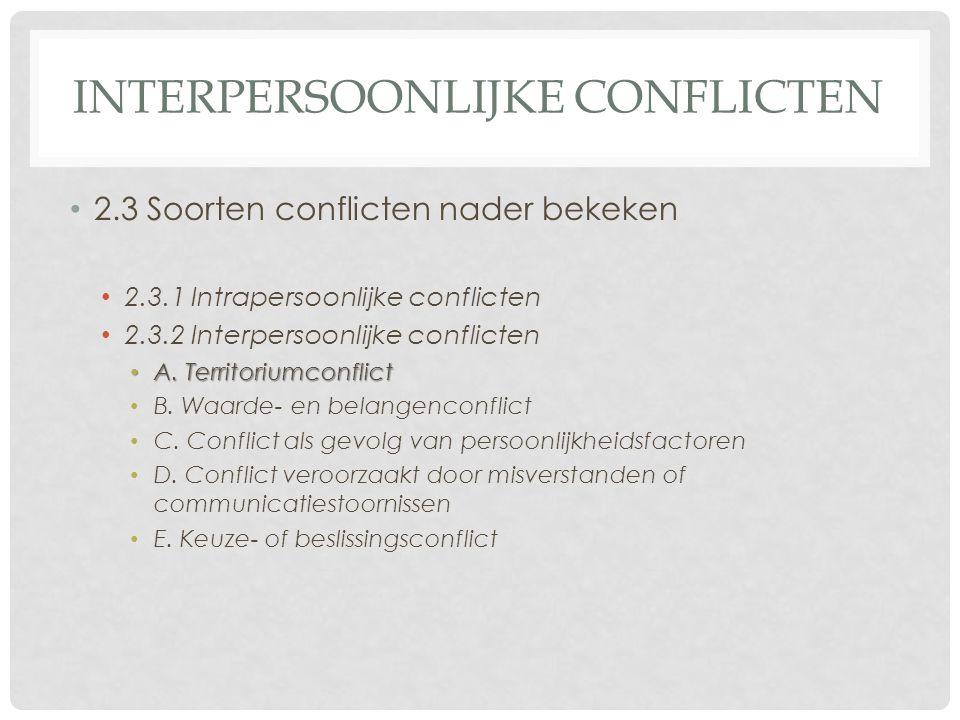 interpersoonlijke conflicten
