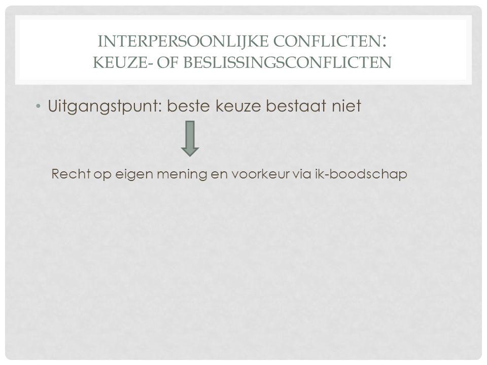 Interpersoonlijke conflicten: Keuze- of beslissingsconflicten
