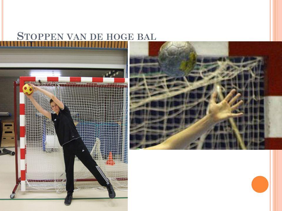 Stoppen van de hoge bal