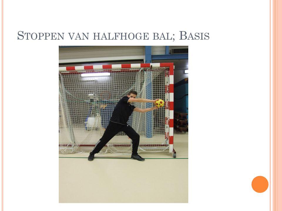 Stoppen van halfhoge bal; Basis