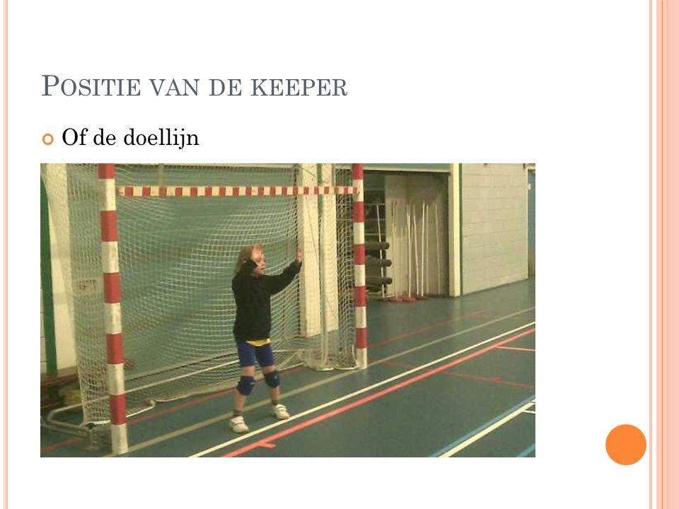 Positie van de keeper Of de doellijn Meer naar de goal