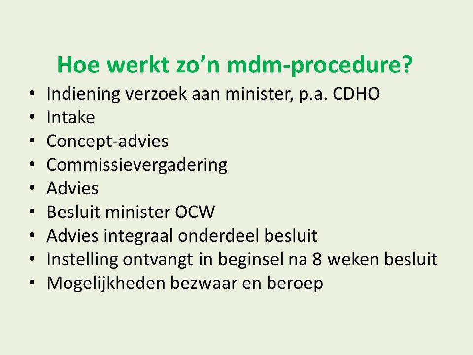 Hoe werkt zo'n mdm-procedure