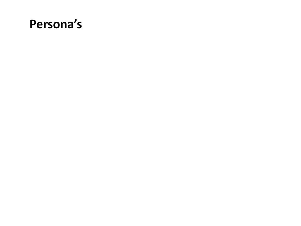 Persona's