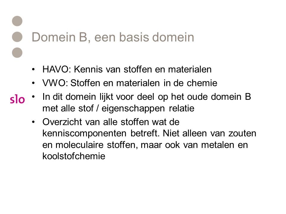 Domein B, een basis domein