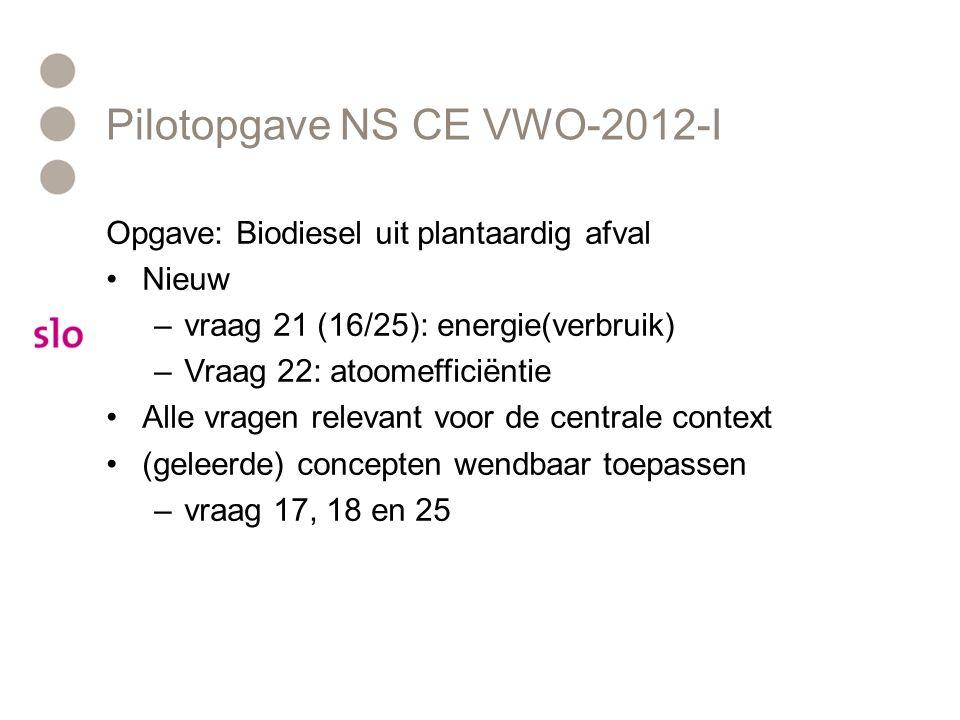 Pilotopgave NS CE VWO-2012-I