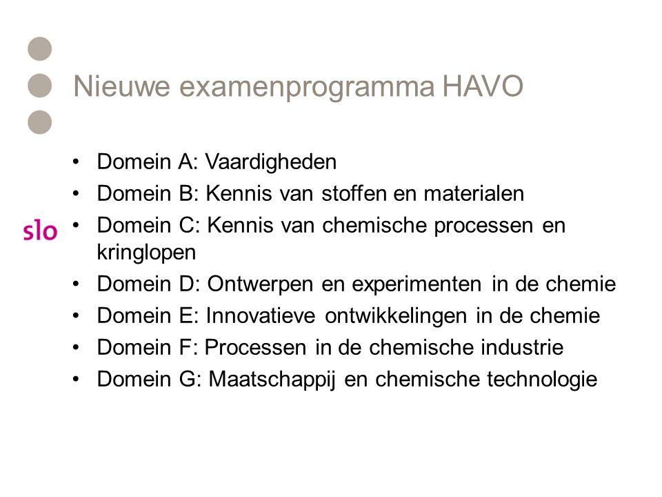 Nieuwe examenprogramma HAVO