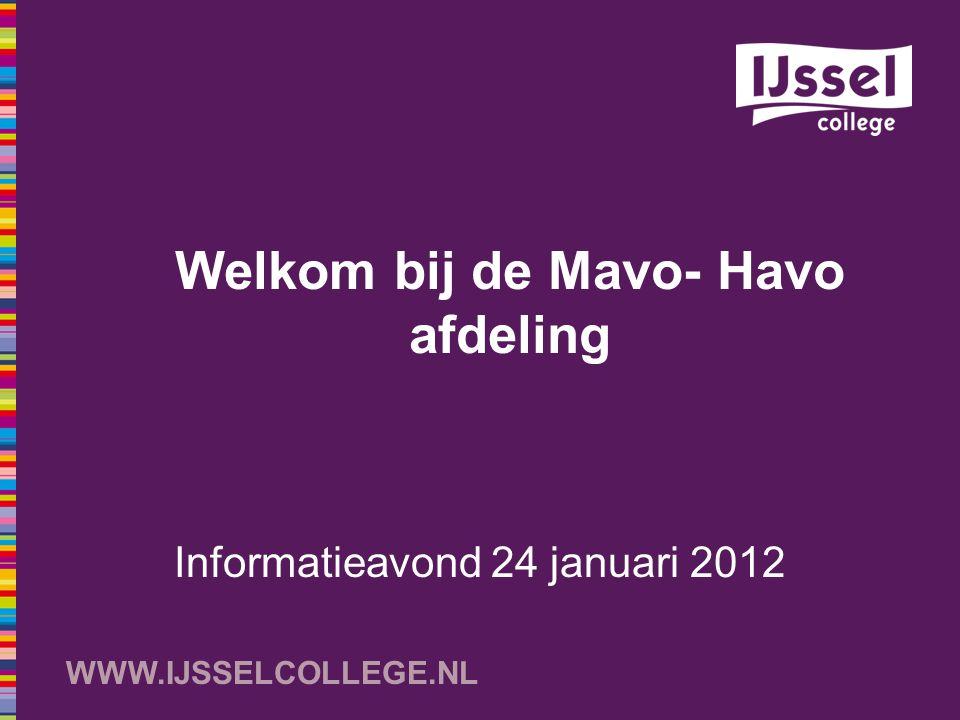 Welkom bij de Mavo- Havo afdeling