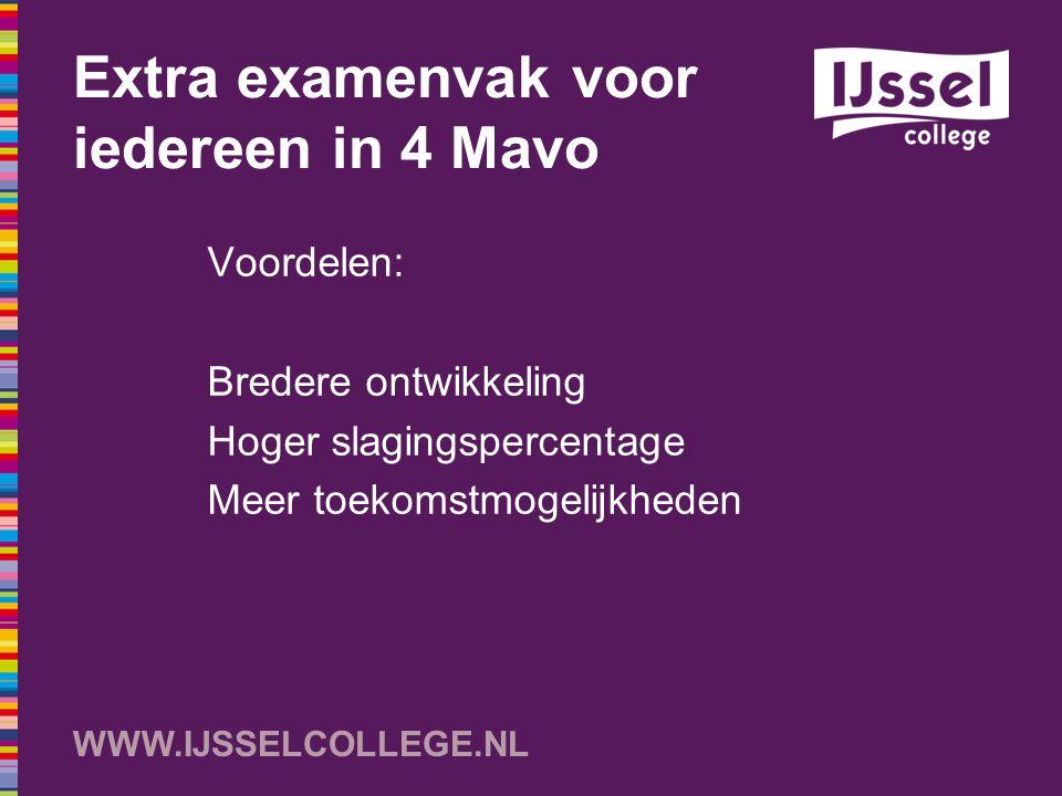 Extra examenvak voor iedereen in 4 Mavo