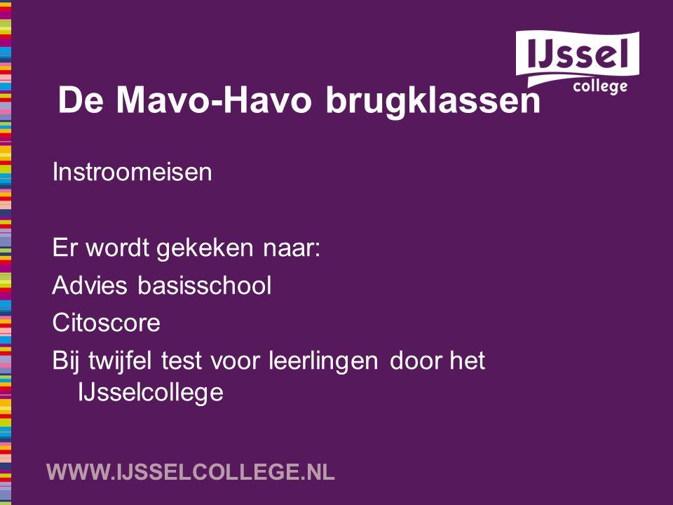 De Mavo-Havo brugklassen