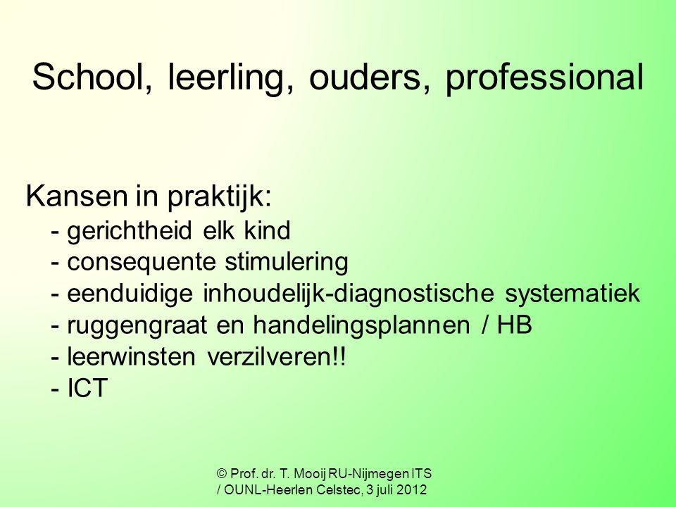School, leerling, ouders, professional