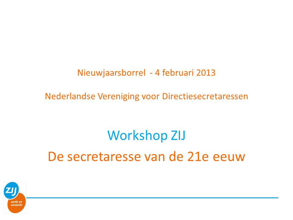 Workshop ZIJ De secretaresse van de 21e eeuw