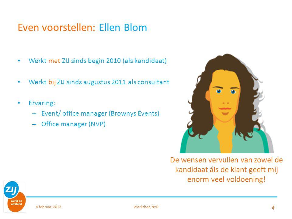 Even voorstellen: Ellen Blom