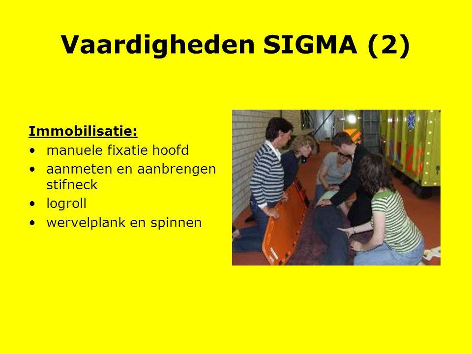 Vaardigheden SIGMA (2) Immobilisatie: manuele fixatie hoofd
