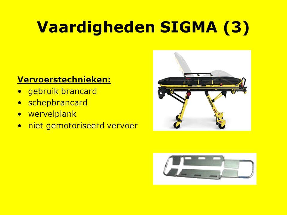 Vaardigheden SIGMA (3) Vervoerstechnieken: gebruik brancard