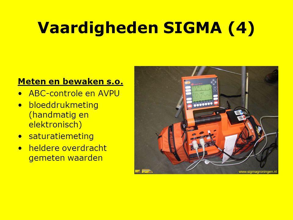 Vaardigheden SIGMA (4) Meten en bewaken s.o. ABC-controle en AVPU