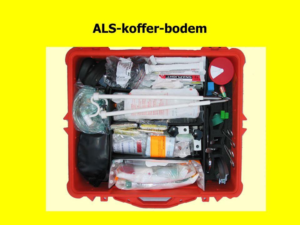 ALS-koffer-bodem Inhoud bodem ALS-koffer. Voor nadere uitleg, zie volgende dia's. Op de ALS-koffer gaan we uitgebreid in.
