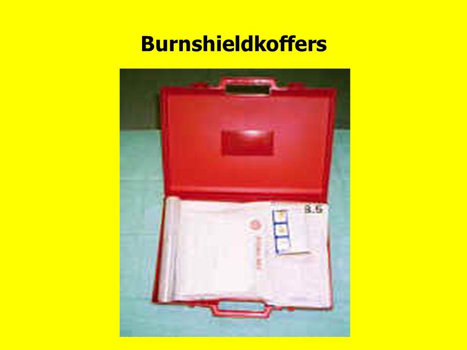 Burnshieldkoffers Burnshieldkoffer met inhoudsopgave