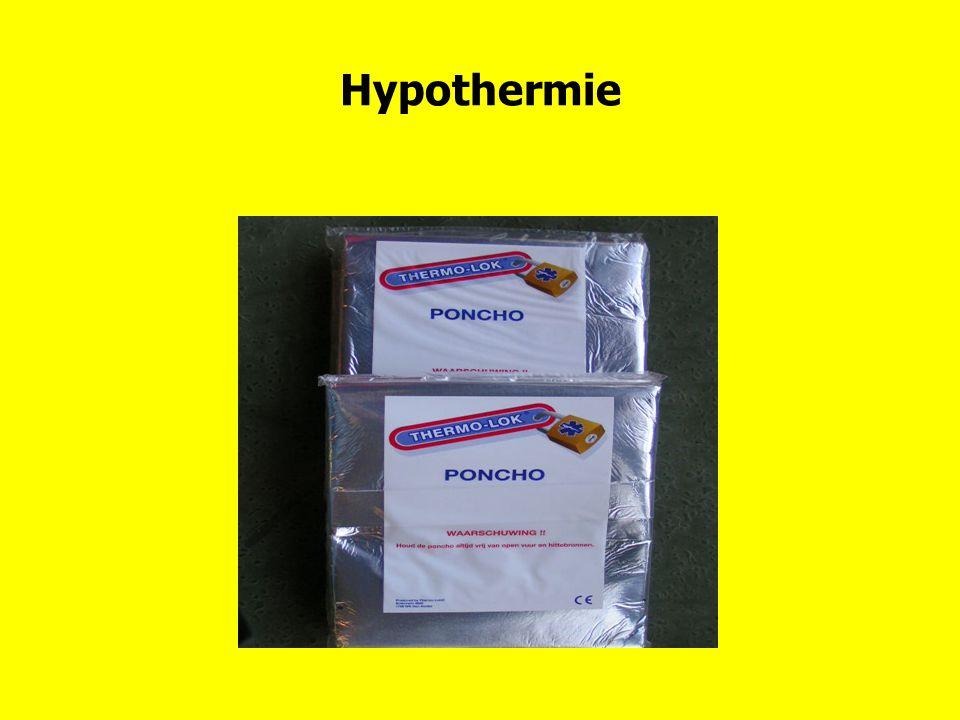 Hypothermie Er zijn verschillende isolatiematerialen: