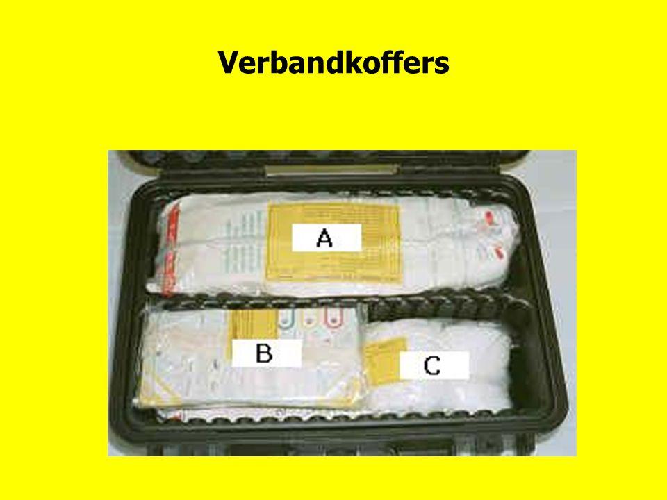 Verbandkoffers Plaats en inhoud verbandkoffers