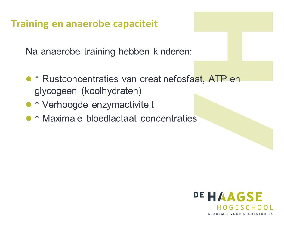 Training en anaerobe capaciteit