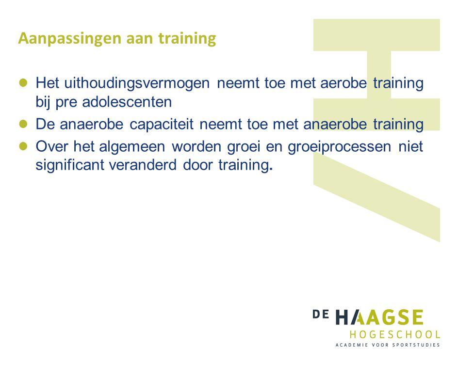 Aanpassingen aan training