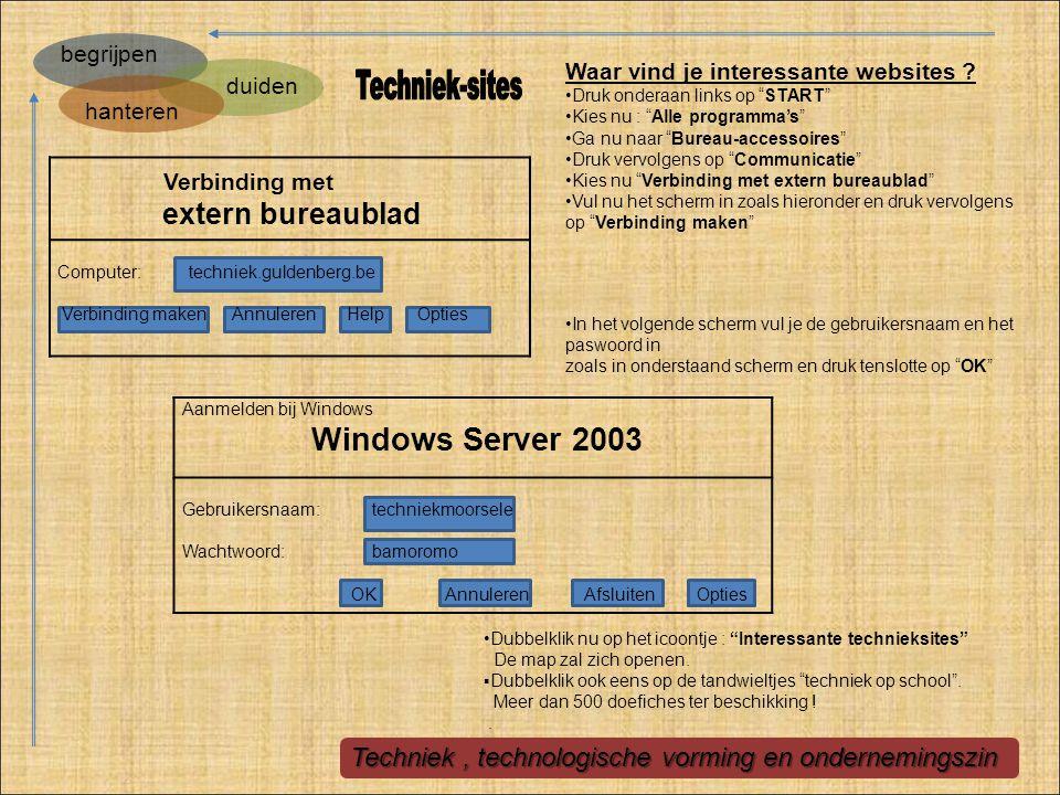Techniek-sites extern bureaublad