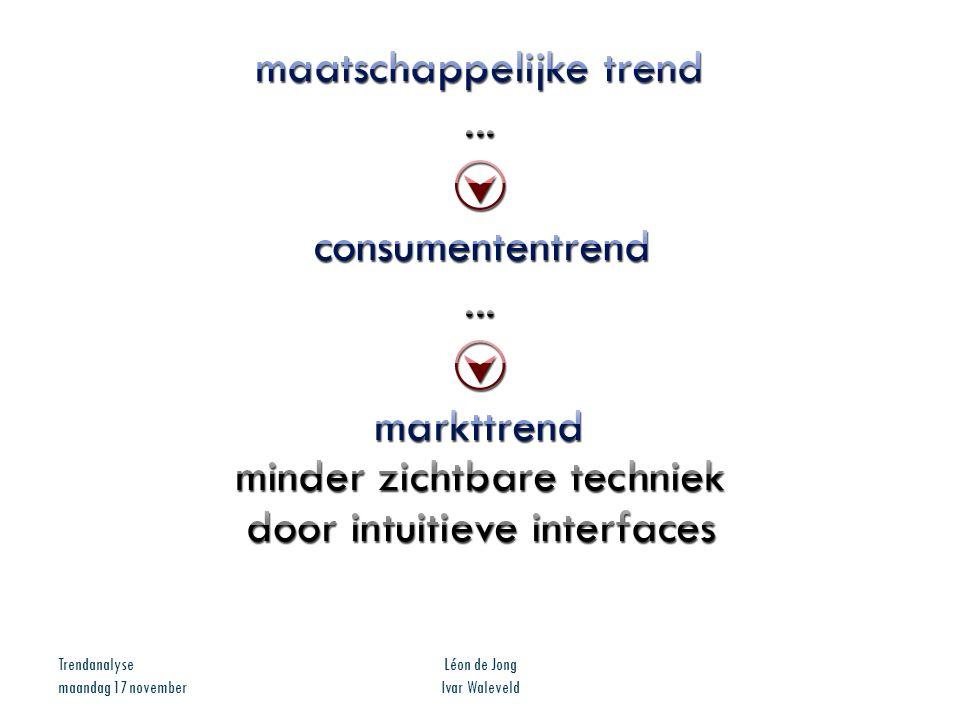 Trendanalyse maandag 17 november Léon de Jong Ivar Waleveld
