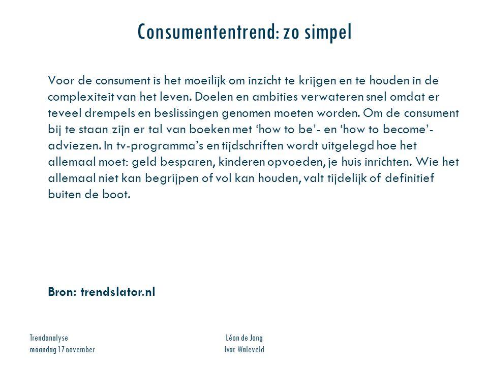 Consumententrend: zo simpel