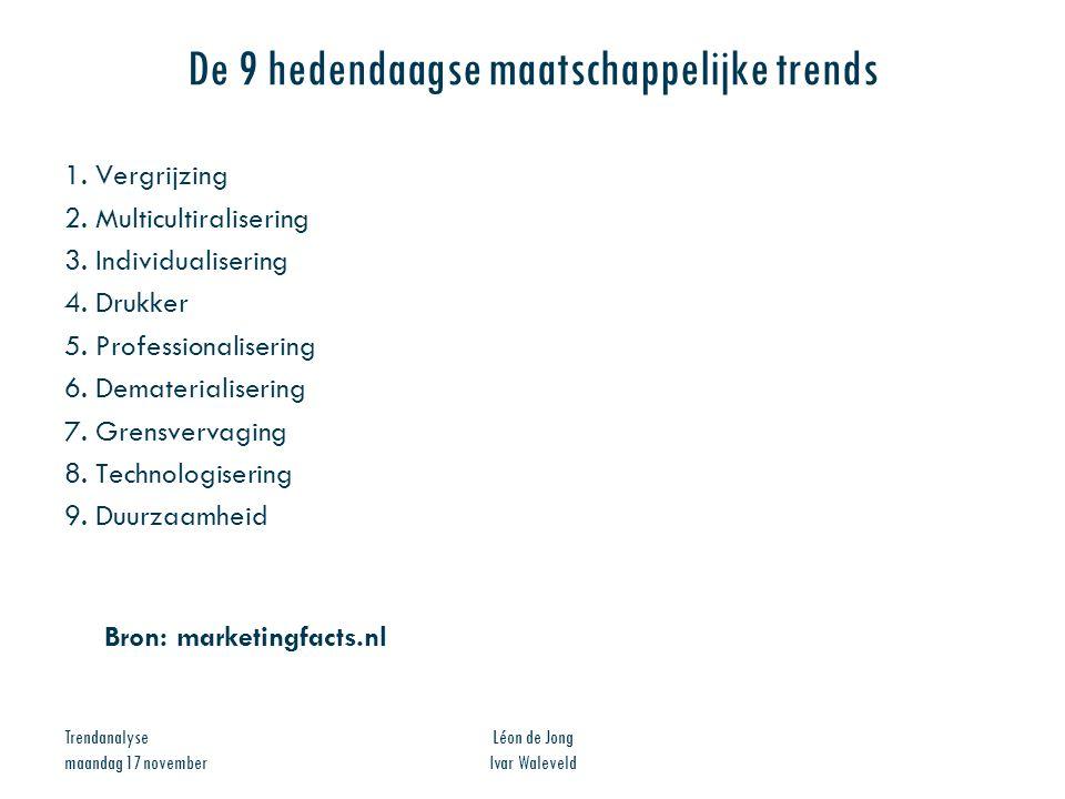 De 9 hedendaagse maatschappelijke trends