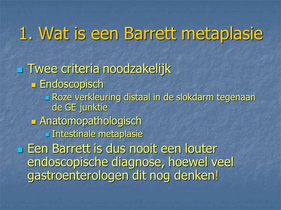 1. Wat is een Barrett metaplasie