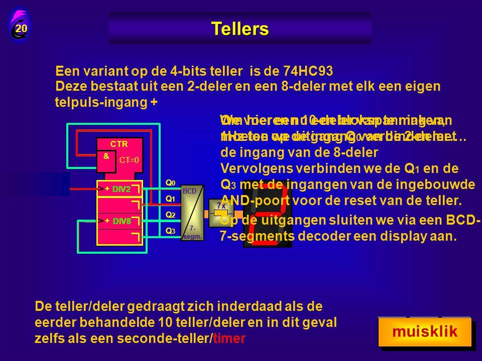 Tellers muisklik muisklik Een variant op de 4-bits teller is de 74HC93