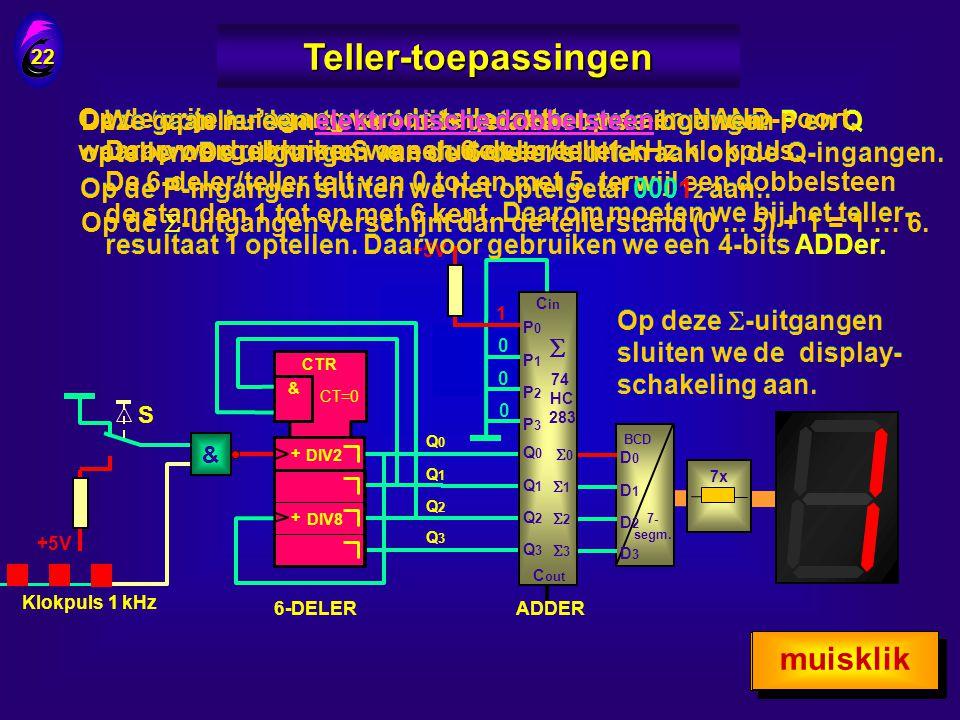 Teller-toepassingen muisklik muisklik