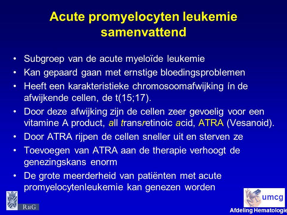 Acute promyelocyten leukemie samenvattend
