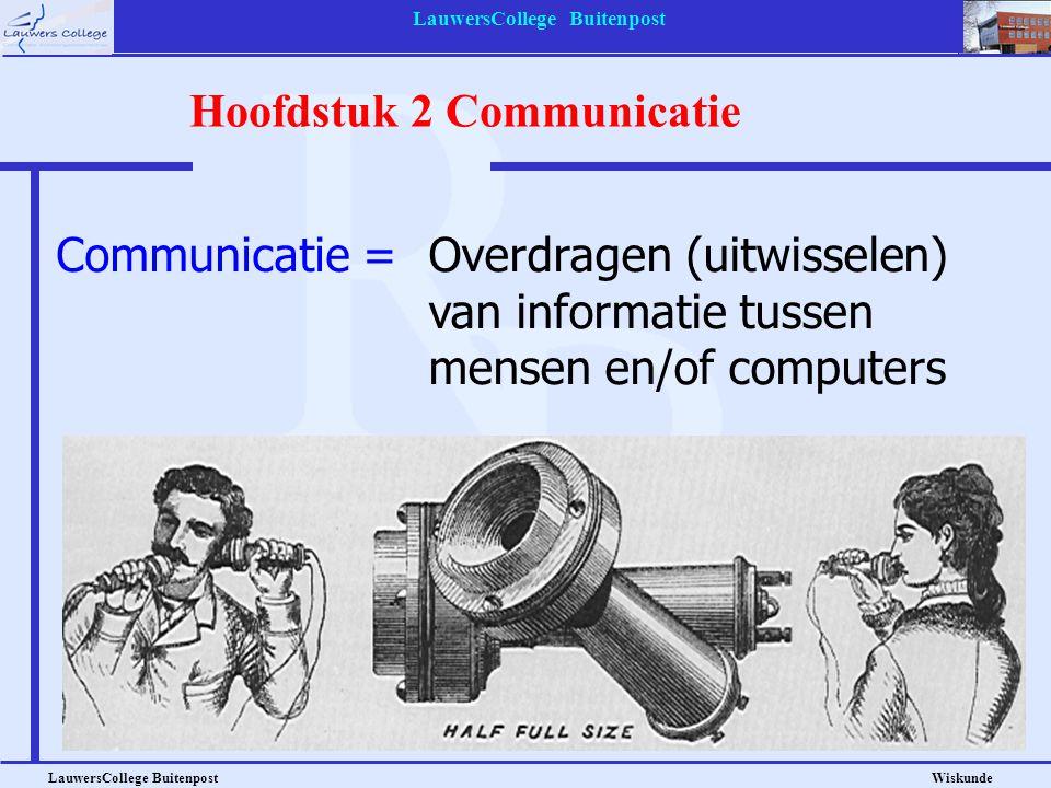 Hoofdstuk 2 Communicatie