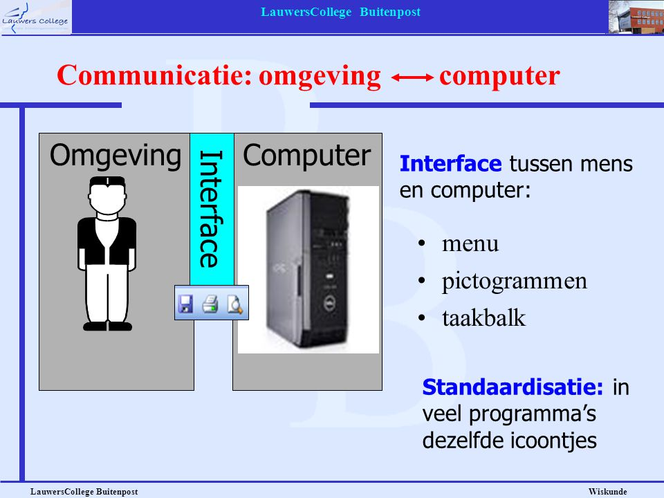 Communicatie: omgeving computer