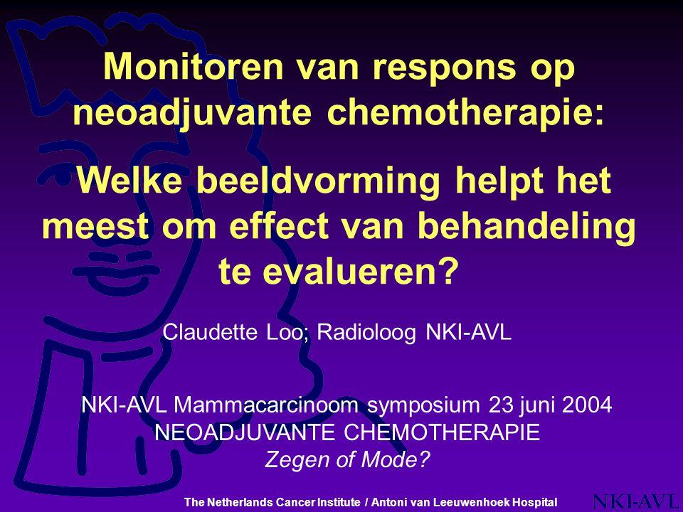 Monitoren van respons op neoadjuvante chemotherapie: