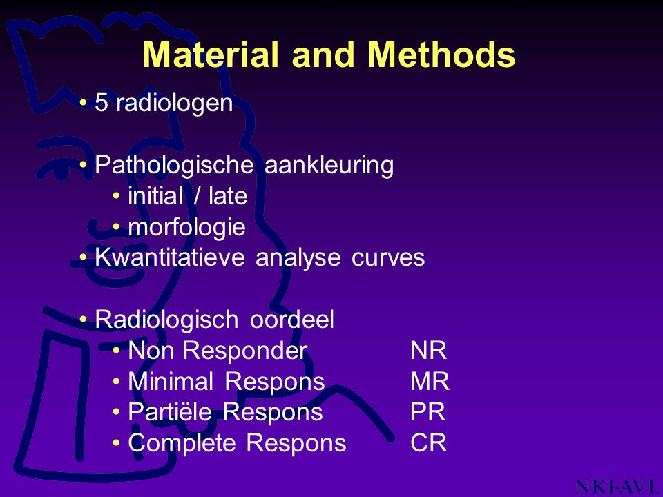Material and Methods 5 radiologen Pathologische aankleuring