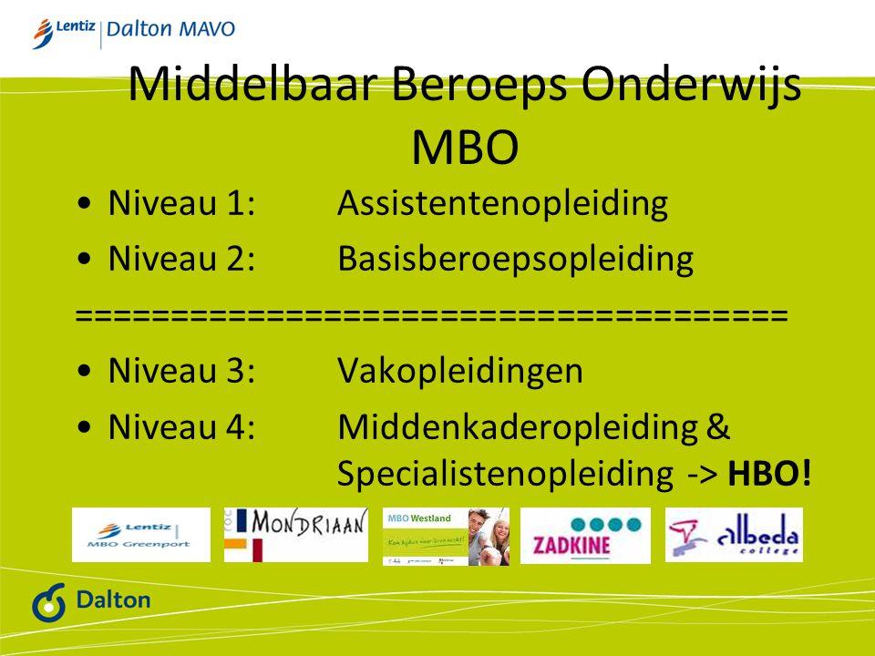 Middelbaar Beroeps Onderwijs MBO
