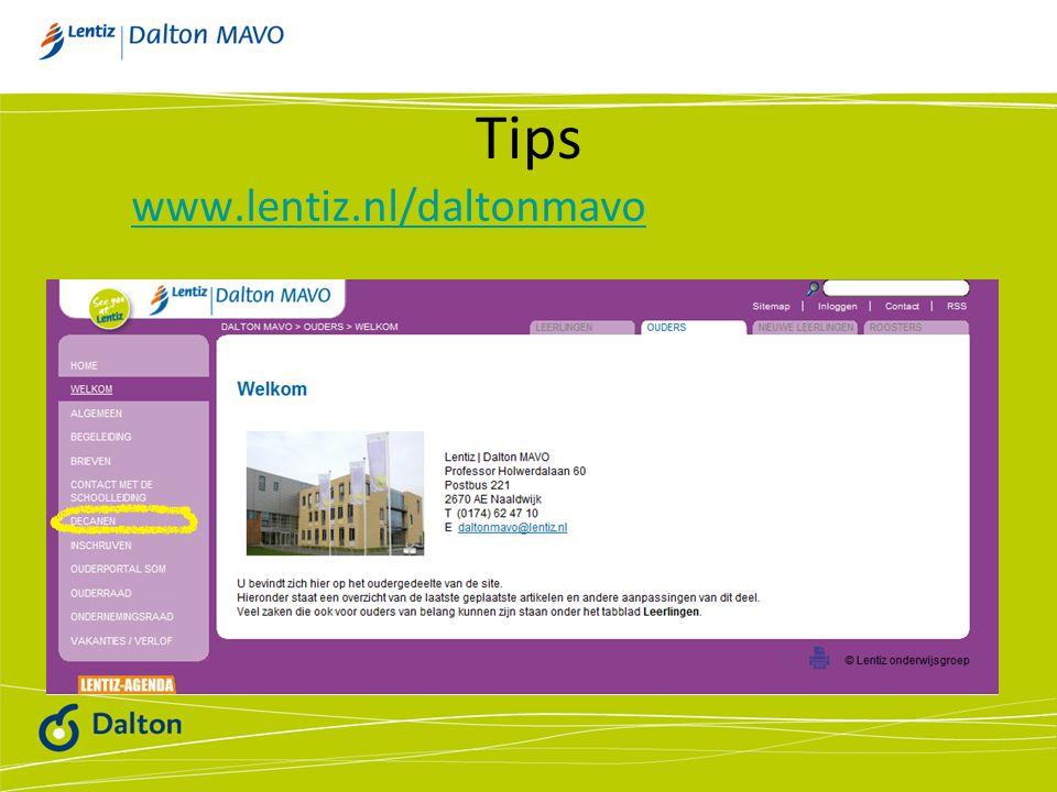Tips www.lentiz.nl/daltonmavo