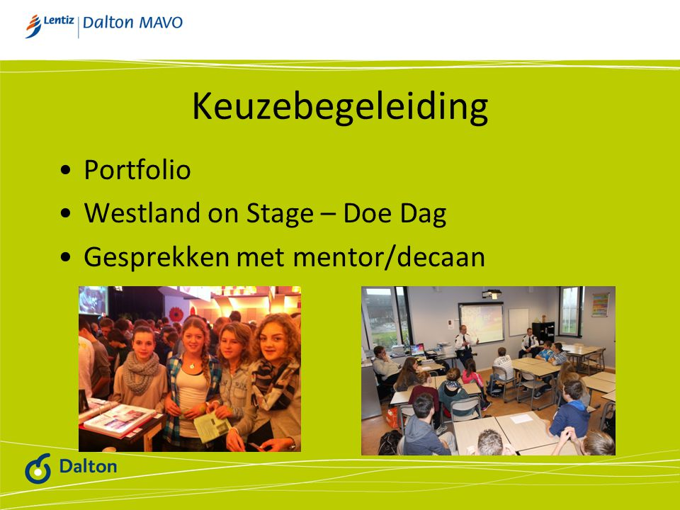 Keuzebegeleiding Portfolio Westland on Stage – Doe Dag