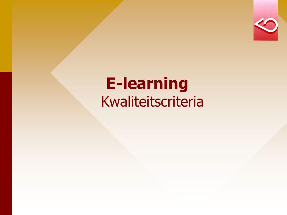 E-learning Kwaliteitscriteria